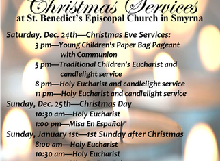 2016 Christmas Eve, Christmas, and New Year's Day Services