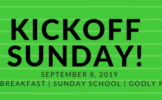 September 8th is Kickoff Sunday: Come for Breakfast
