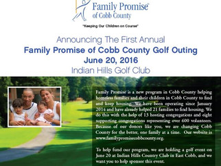 Calling Golfers!  Family Promise Golf Tournament on June 20th