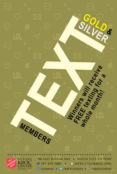 Membership Text Flyer