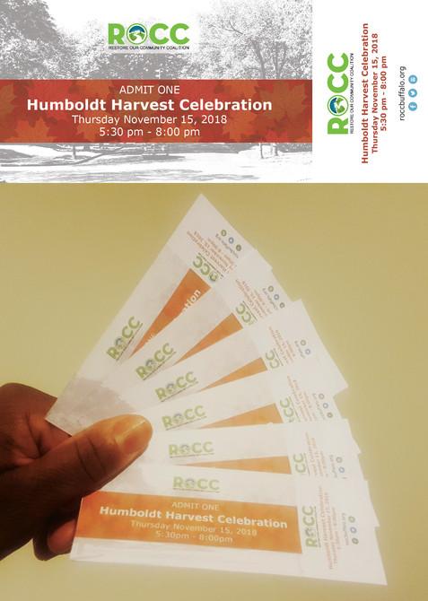 ROCC Humboldt Harvest Tickets
