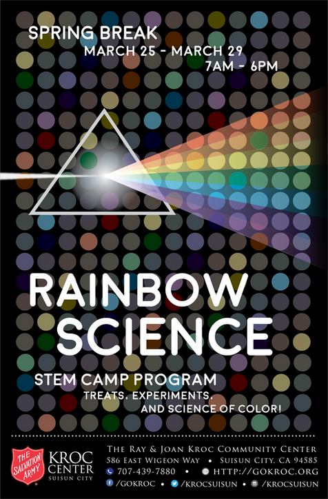 Rainbow Science STEM Camp Flyer