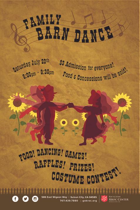 Family Barn Dance Flyer