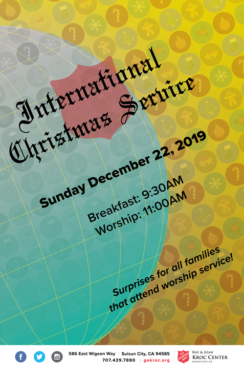 International Christmas Service Flyer