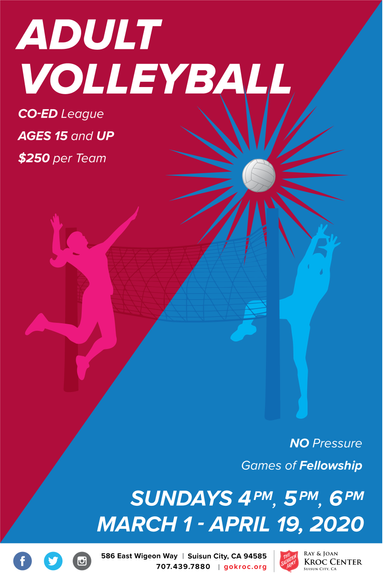 Adult Volleyball League Flyer