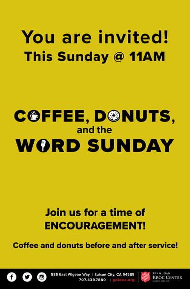 Coffee, Donuts, and the Word Sunday Flyer
