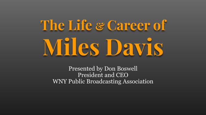 The Life & Career of Miles Davis - Google Slides