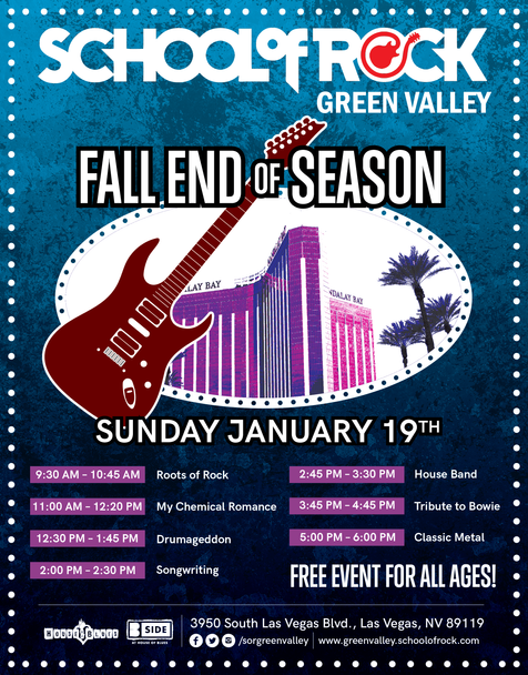 School of Rock Winter 2020 Poster