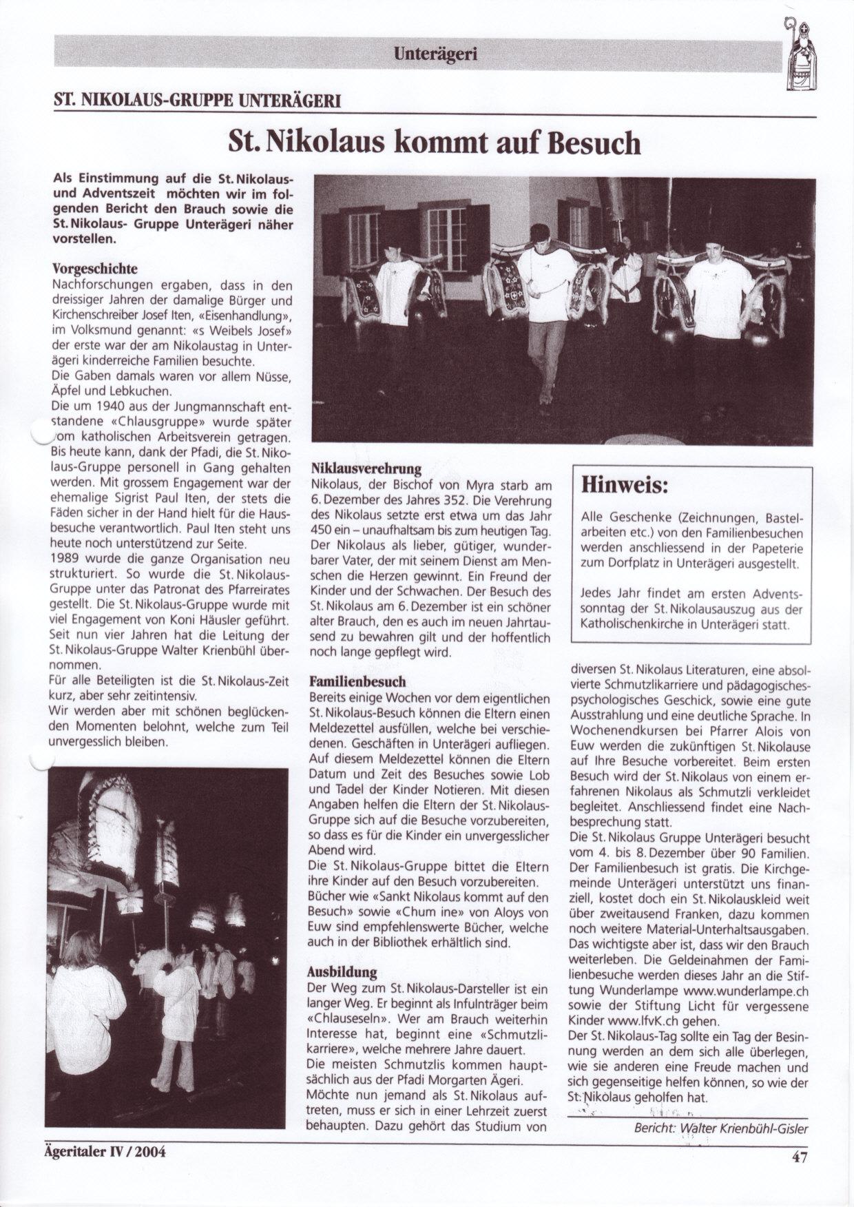 Nikolausauszug 2004