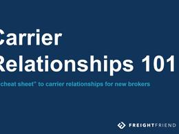 Carrier Relationships 101