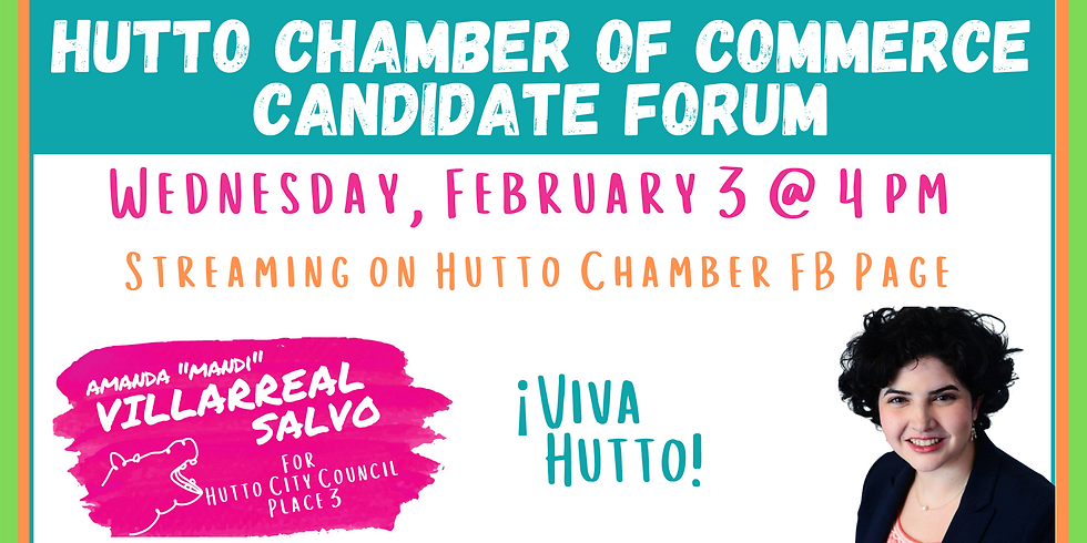 Hutto Chamber of Commerce Candidate Forum