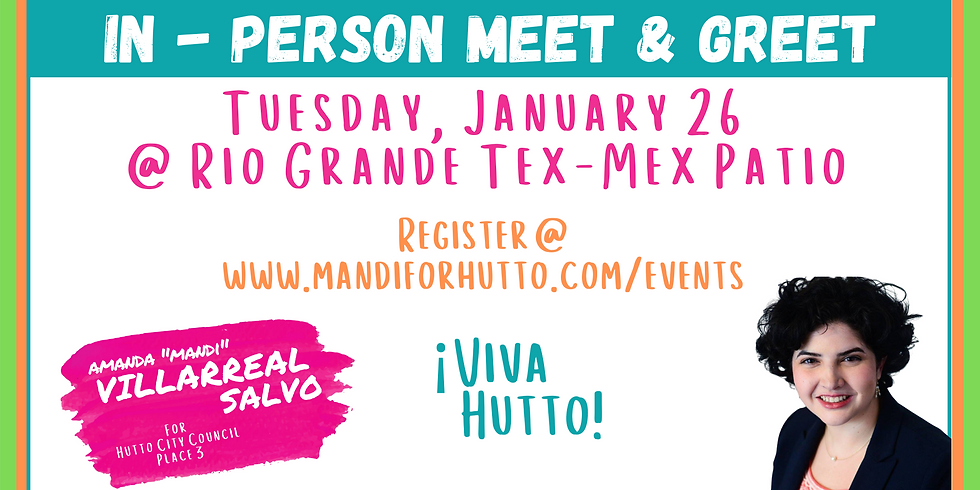 Mandi For Hutto In-Person Meet & Greet