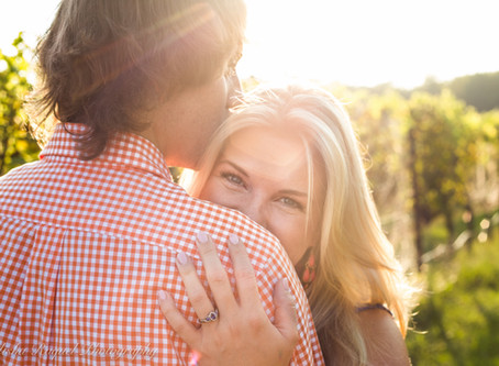 Blythe & Andy's Vineyard Engagement Session