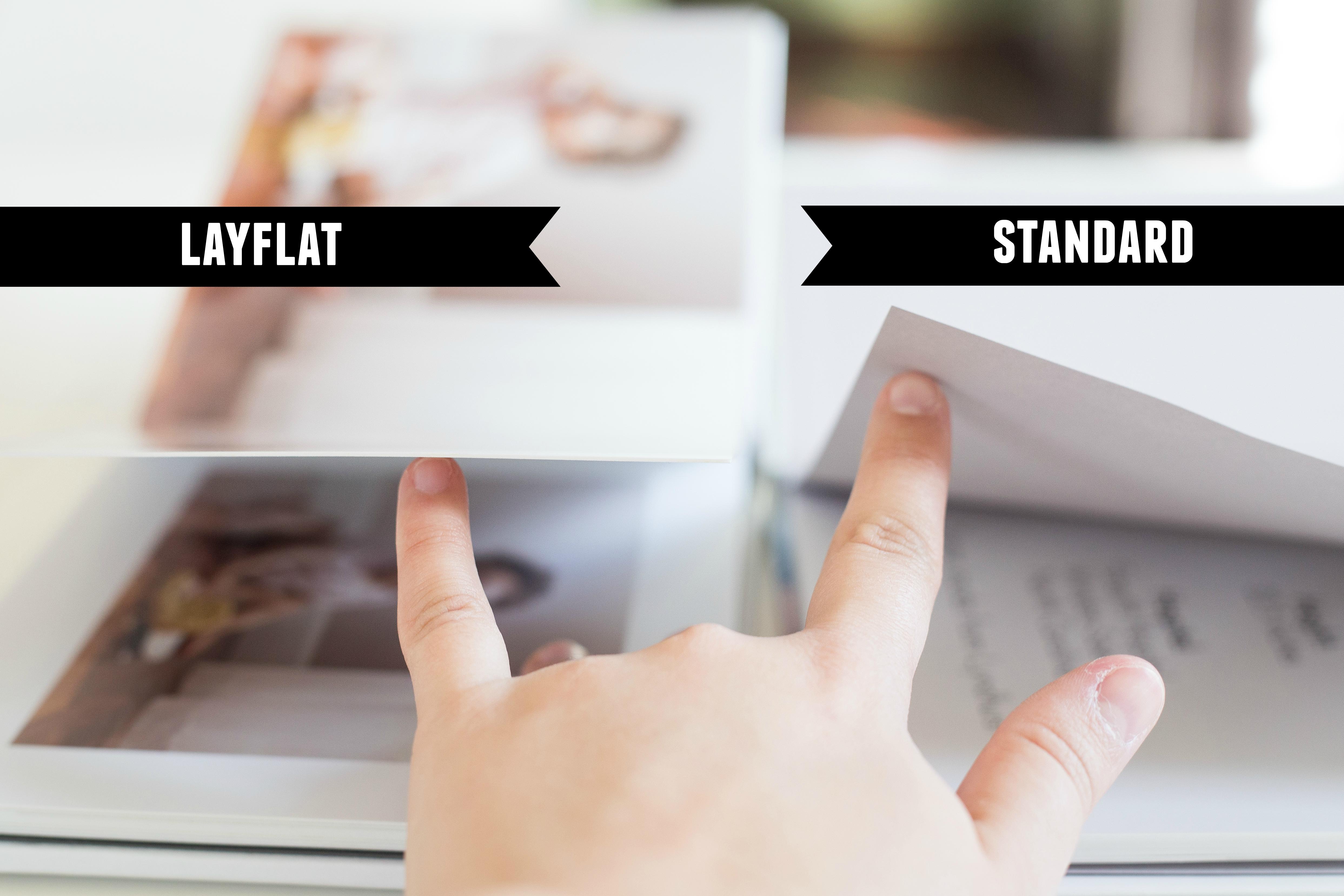 standard vs layflat photo album alisha raquel photography