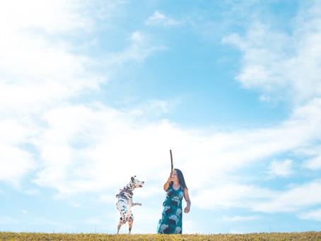 Erin & Dalmatian Cleo's Annual Photoshoot