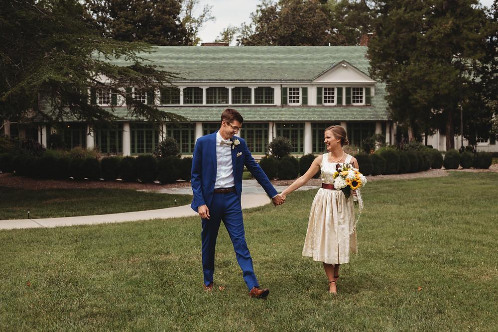 reynolda house 1950s wedding