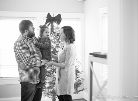 The Wilson's At Home Christmas Photoshoot