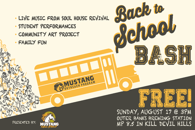SAVE THE DATE: Mustang Outreach Program Throws End of Summer Bash at Outer Banks Brewing Station