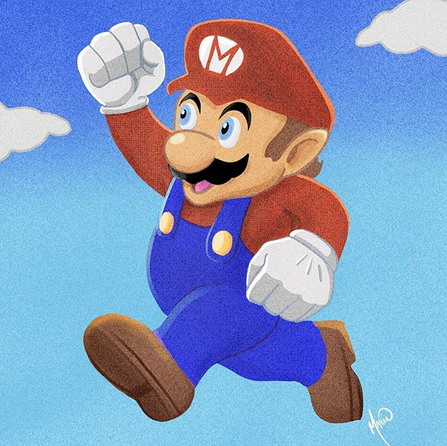 It's a him, Mario! #fanart #procreate #n