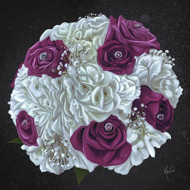 My sisters bouquet #art #flowers #roses