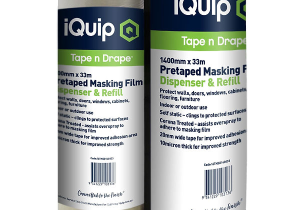 iQuip Pretapted Masking Film & Dispenser