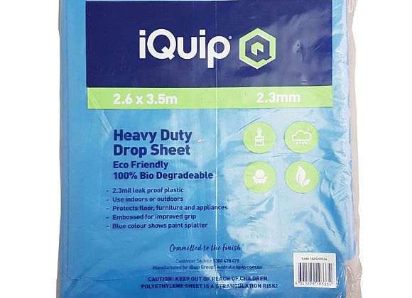 iQuip Biodegradable Plastic Heavy Duty Drop Sheet