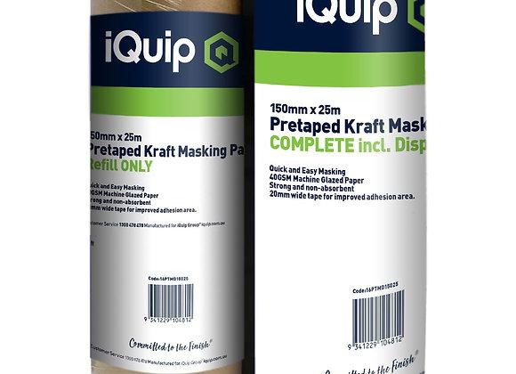 iQuip Pretaped Kraft Masking Paper Dispenser