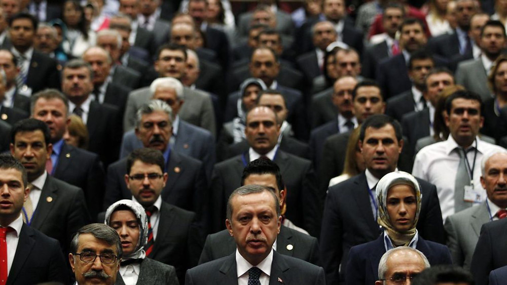 Erdogan at AKP meeting