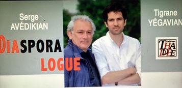 Soirée de présentatio du livre Diasporalogue de Tigrane Yégavian et Serge Avédikian au Centre Topalian. Hyestart.