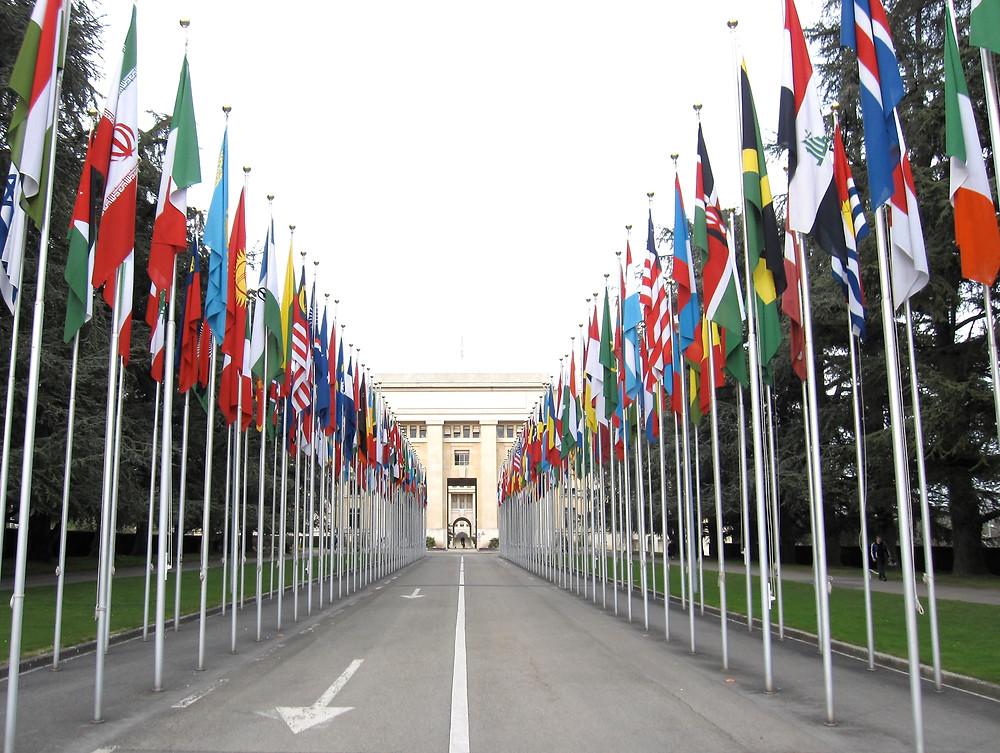 Entrée du Palais des Nations (ONU) à Genève