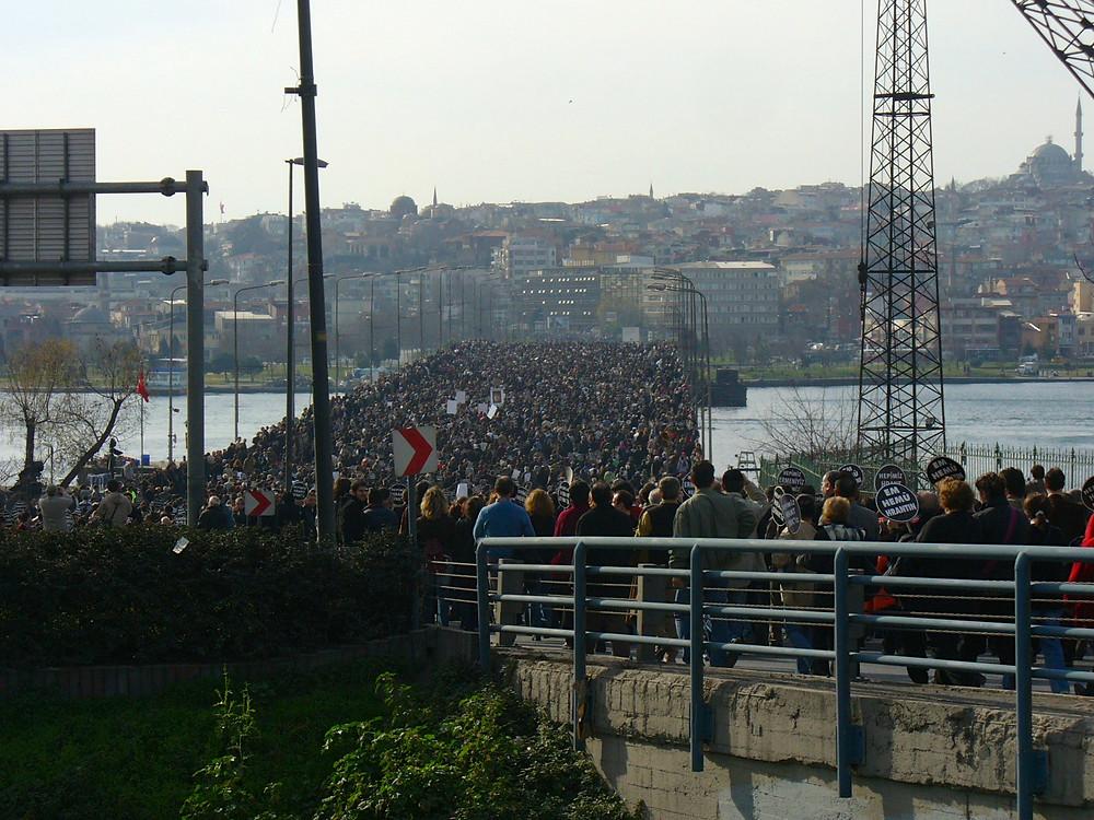 funérailles Hrant Dink 23 janvier 2007 Istanbul
