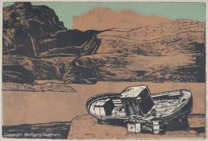 Wolfgang Stratmann - Kreta (Siebdruck+Ra