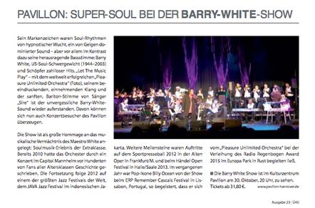 Pavillon: Super Soul at the Barry-White-Show