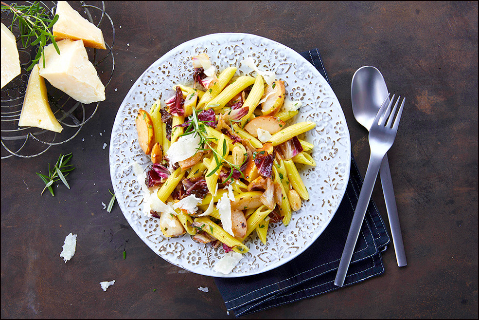 010_Radicchio and Pear Penne with Shaved