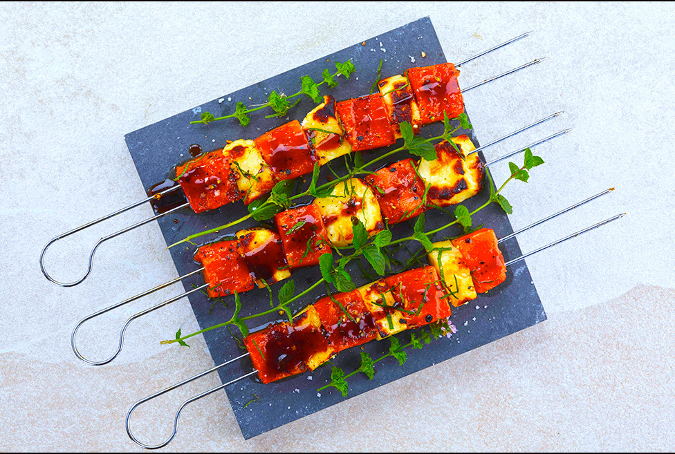 037_Watermelon and Halloumi Skewers with