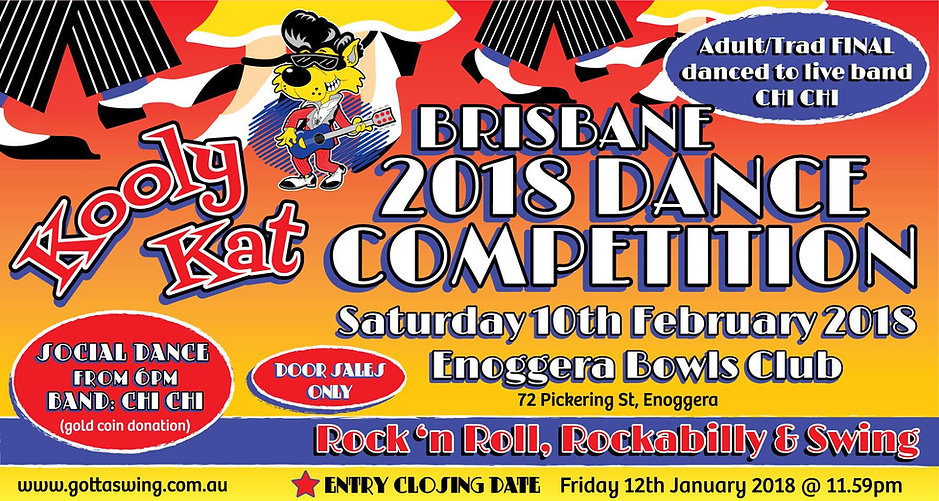 Kooly Kat Brisbane Dance Competition. Sunday 10 February 2018. Entries Close 12 January 2018.
