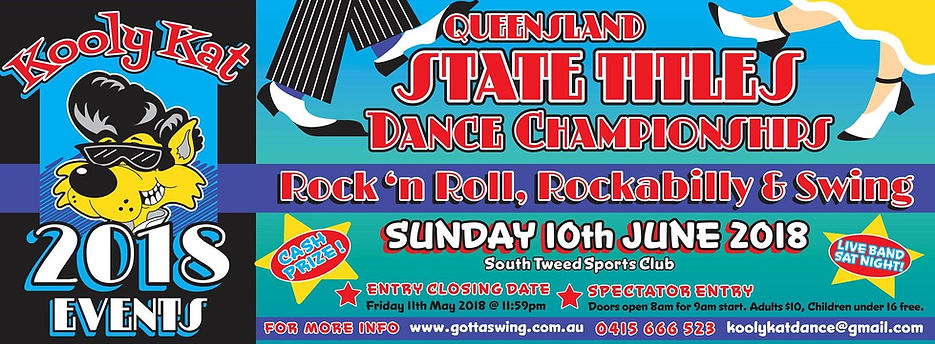 Cooly Rocks On 2015 Dance Championships. Sunday 7 June 2015. Entries Close 10 May 2015.