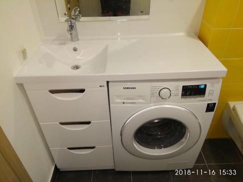 Gorsanteh.com Установка раковины со столешницей, стиральной машины, тумбы под раковину, смесителя на раковину.