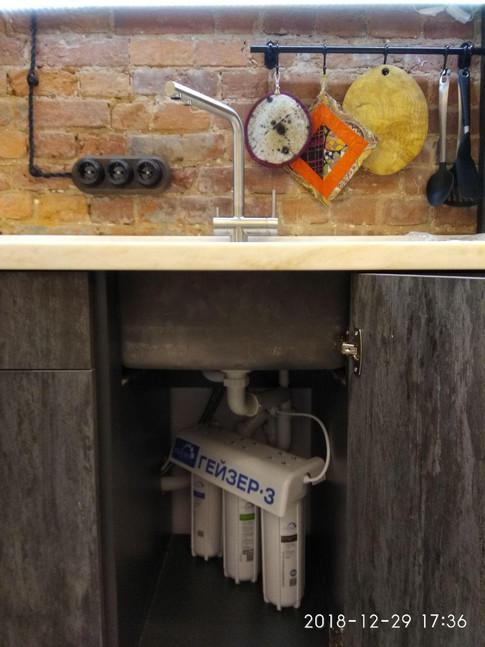 Установка кухонной мойки, смесителя, сифона, филтра для очистки воды аквафор. Gorsanteh.com