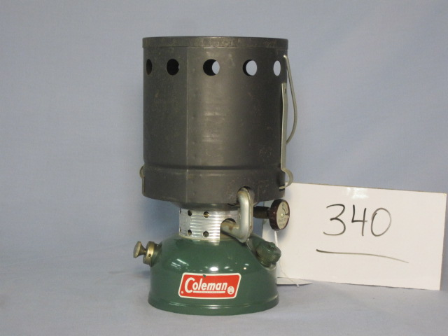 Coleman 502 with accessory heat drum