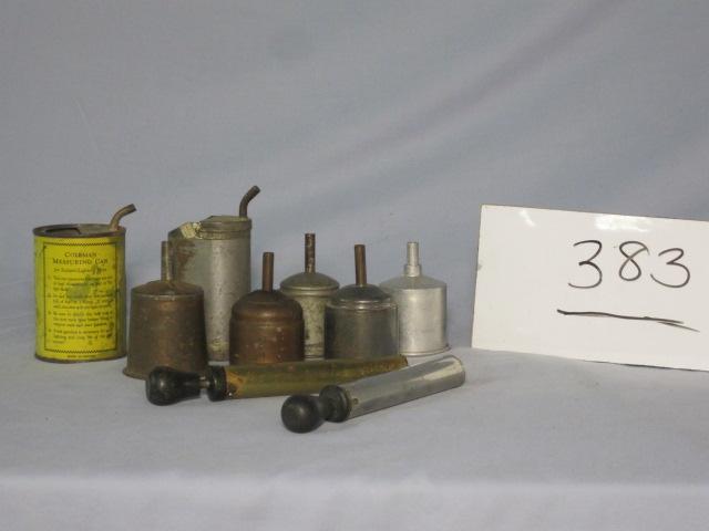 Coleman iron pumps, funnel, filler c