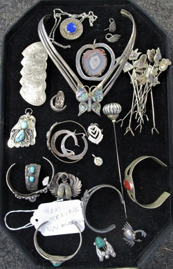 925 Sterling Jewelry Unmarked