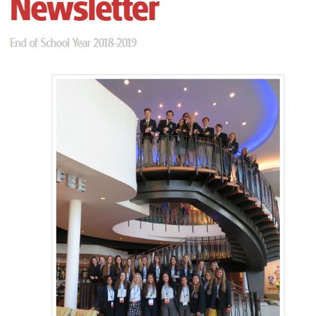 Final Newsletter 2018-2019 School Year