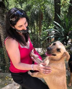 Fabiana com Lara