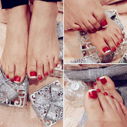 Lovely Spa Pedicure with Gel printed  to