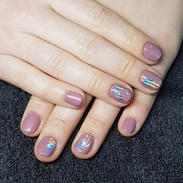 Stunning Gel nails by Kasia, beautifully