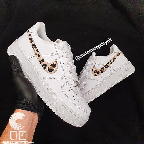 Custom Nike Air Force 1 Low (Cheetah Print)