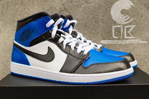 Custom Air Jordan 1 Mid (Royal Blue)