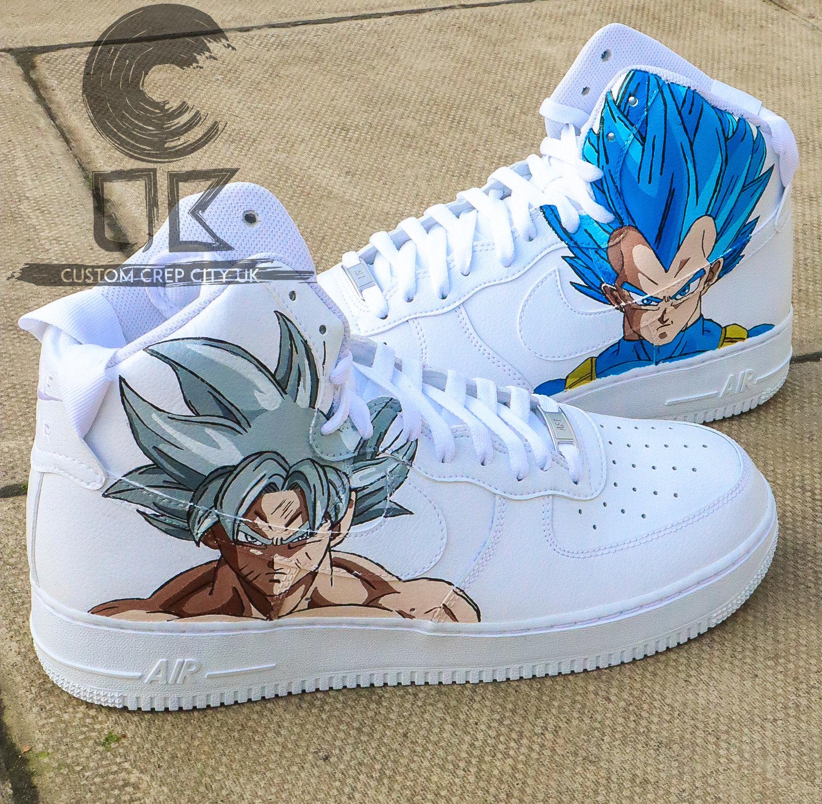 Custom Nike Air Force 1 High (Goku x