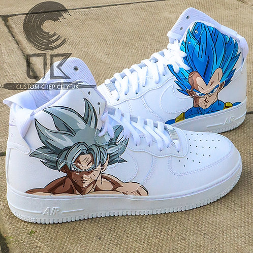 Custom Nike Air Force 1 High (Goku x Vegeta)